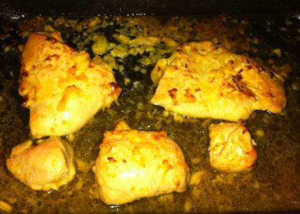 Рецепт курицы смедом, запеченной вдуховке