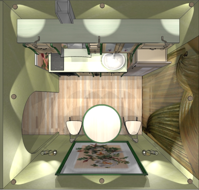 Дизайн спальни-гостиной 19 кв.м