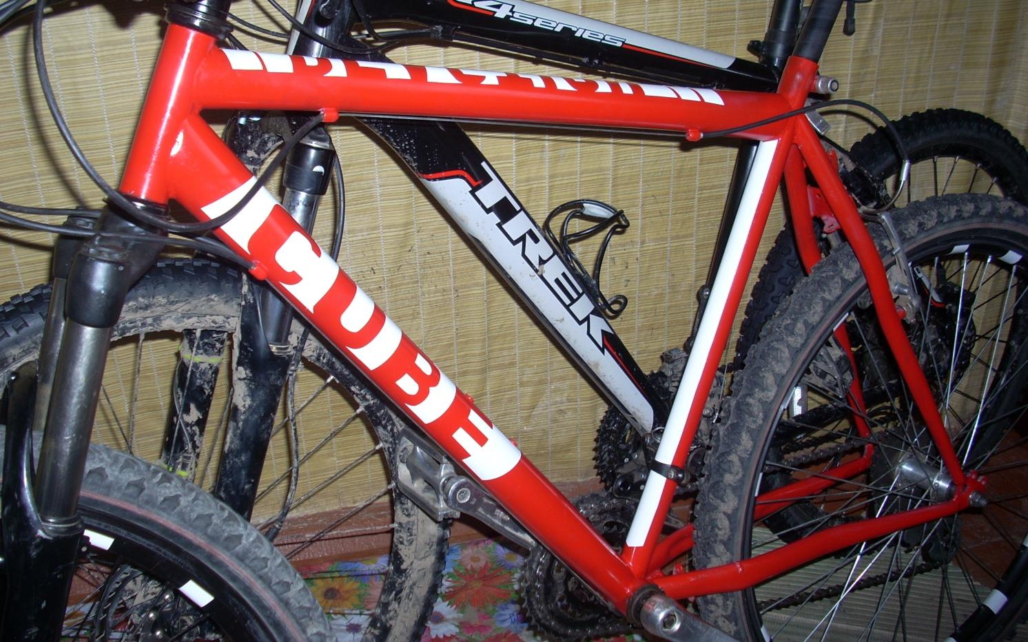 Красим велосипедные рамы