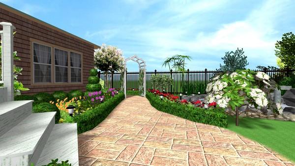Дизайн-проект: планировка сада сакцентом надорожки