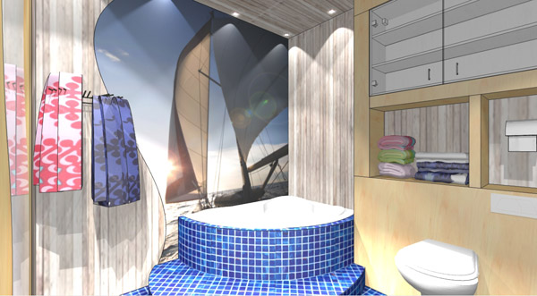 Проект: дизайн  ванной комнаты маленького размера