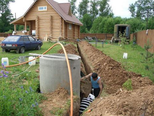 Отвод воды изо бани — автопрокладка труб и возведение септика