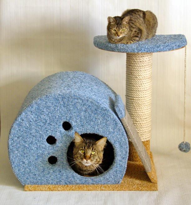 Мини-комплекс для кошек своими руками