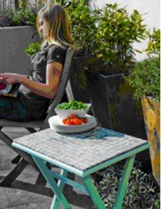 Реставрация мозаичного стола с тем чтоб сада