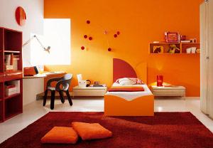 Оранжевый пурпур винтерьере