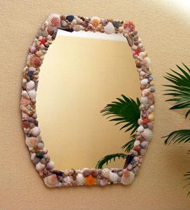 Декорирование зеркала вморском стиле