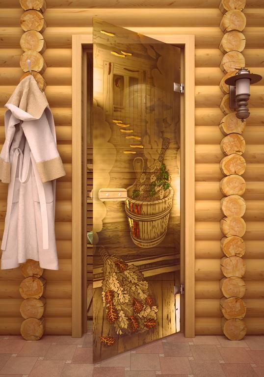 Двери во баню — стеклянные и деревянные двери для  бани