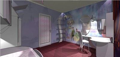 Дизайн-проект детской ради девочки