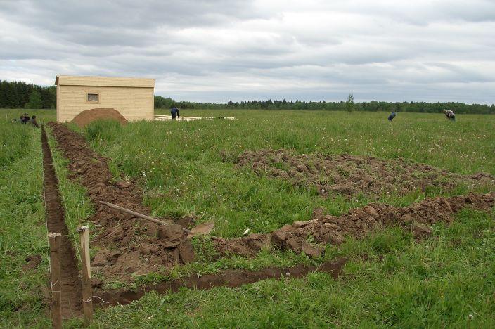 Ленточный фундамент ради бани — поэтапное строительство