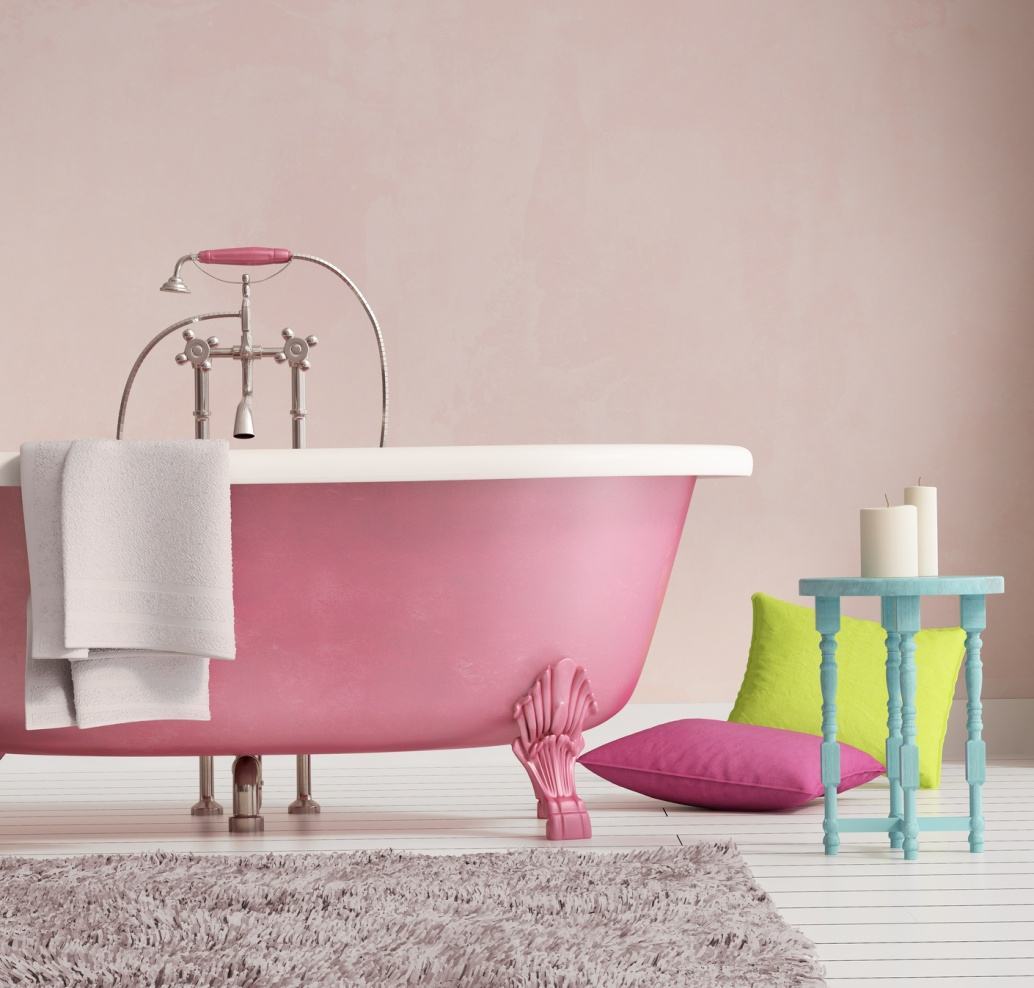Розовый сливки винтерьере