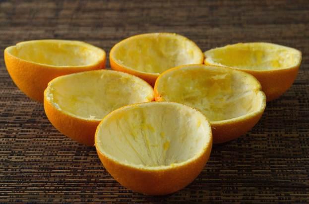 Новогодний апельсиновый  пирожное кшампанскому