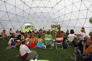 Геодезический купол, скандал иприменение