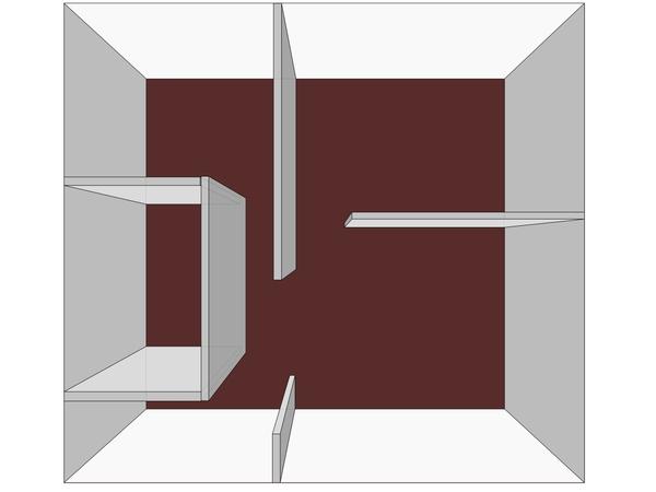 Дизайн— схема интерьера двухкомнатной квартиры вгреческом стиле