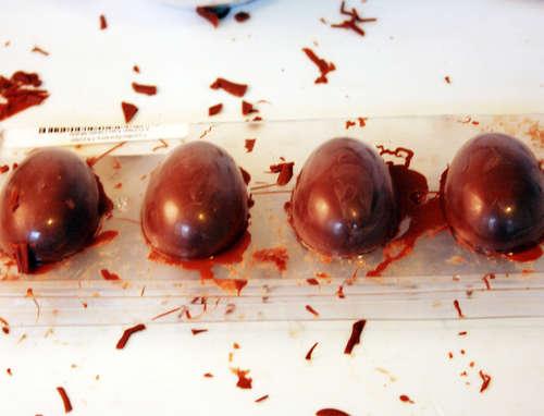 Шоколадные яйца наПасху