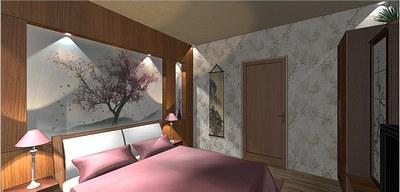 Спальня вяпонском стиле