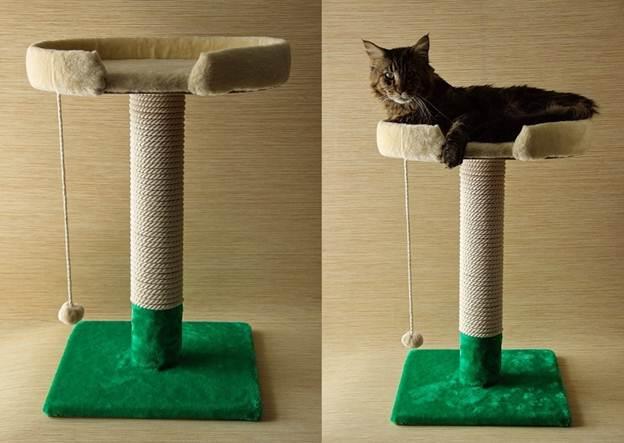 Как сделать своими руками домик когтеточку для кошки