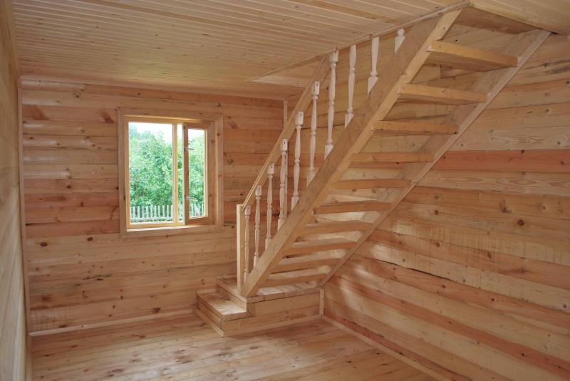 Деревянная лестница своими руками на мансарду