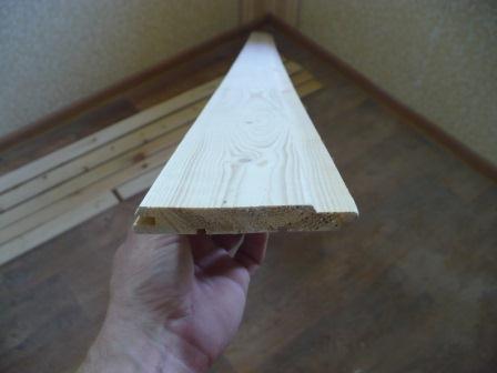 Отделка откосов идверных наличников самоклеющейся пленкой подо дерево