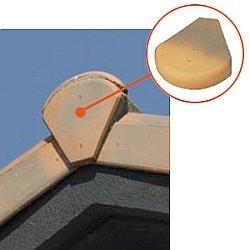 Установка карнизной и торцевой  планки ради металлочерепицы
