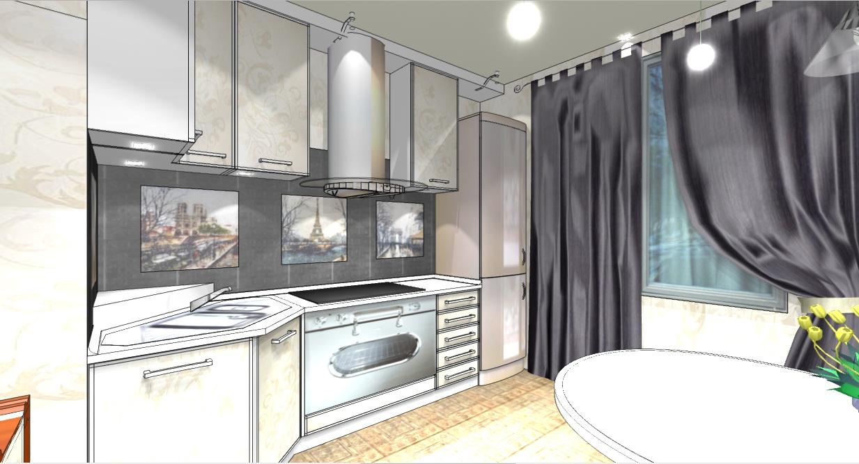 «Французский» интерьер для  кухни