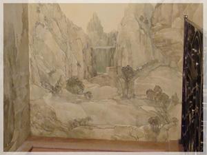 Настенные картины: разрисовывание винтерьере