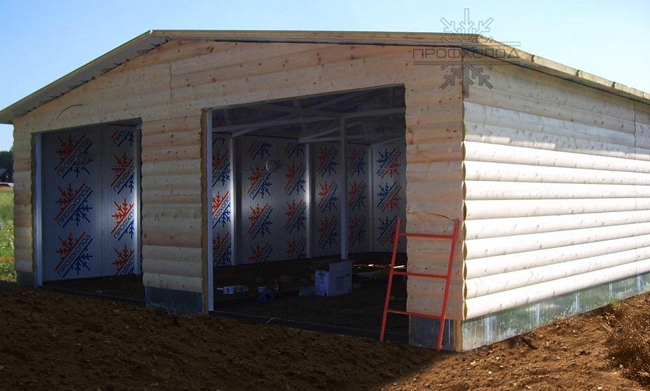 Дом, мини-гараж идругие конструкции изсэндвич-панелей