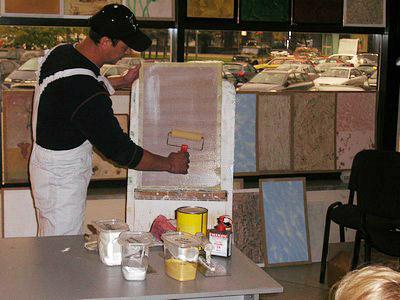 Мастер-класс: надувание венецианской штукатурки
