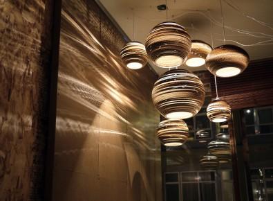 Светильники изкартона