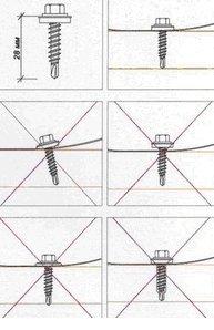 Крепление металлочерепицы к обрешётке