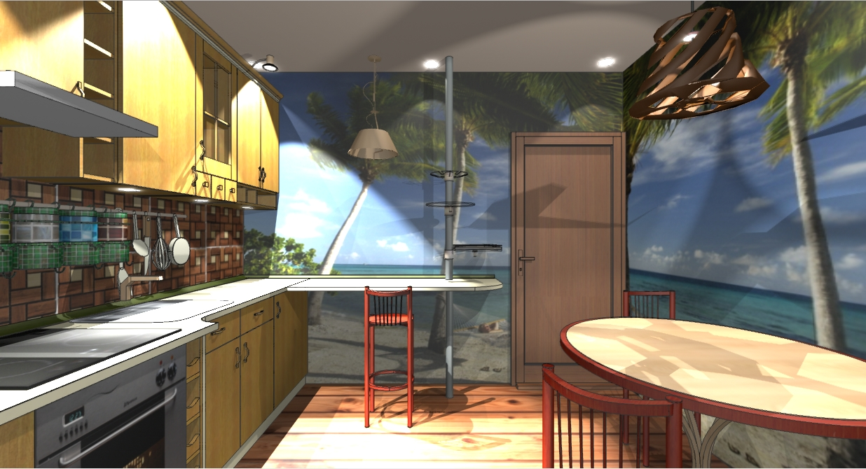 Дизайн-проект: автокухня 10кв.м