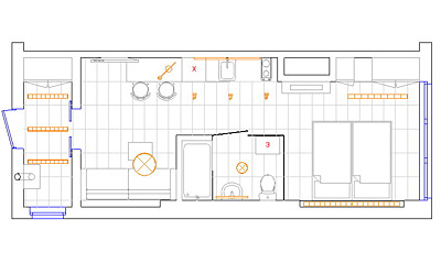 Дизайн-проект интерьера. Квартира-студия встиле хай-тек