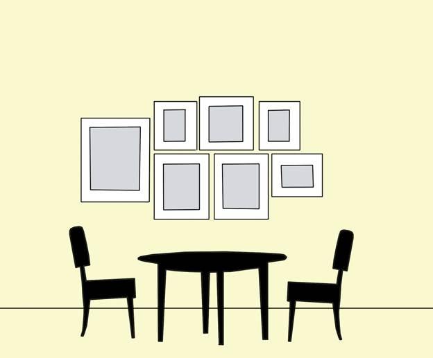 Основные правила развески картин винтерьере