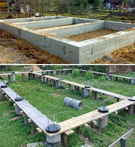 Строительство бани изо оцилиндрованного бревна
