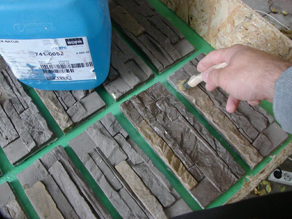 Изготовление полиуретановой формы про искусственного камня