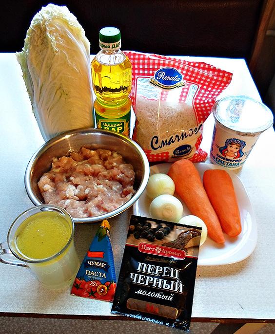 Фото-рецепт приготовления голубцов изпекинской капусты смясом ирисом