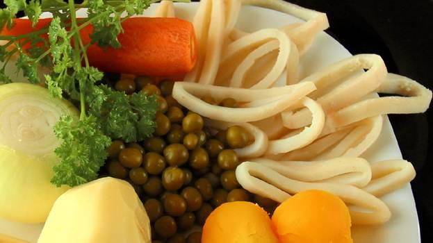 Рецепт приготовления сырного крем-супа скальмарами