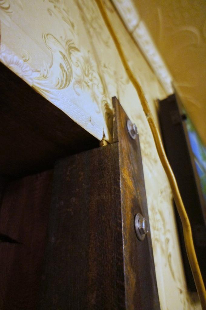 Как укрепить стену дома избруса